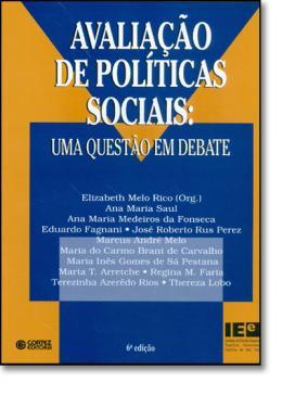 AVALIACAO DE POLITICAS SOCIAIS: