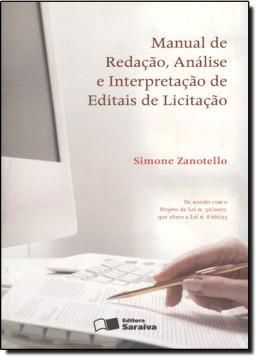 MANUAL DE REDACAO, ANALISE E INTERPRETACAO DE EDITAIS DE LICITACAO