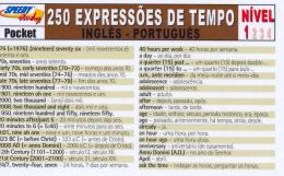 250 EXPRESSOES DE TEMPO INGLES-PORTUGUES - NIVEL 1