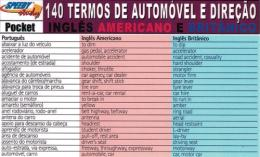 140 TERMOS DE AUTOMOVEL E DIRECAO INGLES AMERICANO E BRITANICO