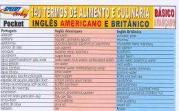 140 TERMOS DE ALIMENTO E CULINARIA INGLES AMERICANO E BRITANICO - NIVEL BASICO