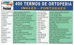 400 TERMOS DE ORTOPEDIA INGLES-PORTUGUES