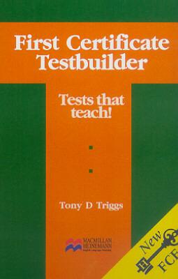 FIRST CERTIFICATE TESTBUILDER - CASSETTE