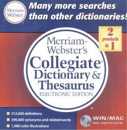 MERRIAM-WEBSTER´S COLLEGIATE DICTIONARY & THESAURUS CD-ROM