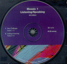 MOSAIC 1 LISTENING/SPEAKING CD - 4TH ED