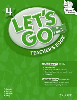 LETS GO 4 TEACHERS BOOK WITH TEST CENTER PACK - FOURTH EDITION