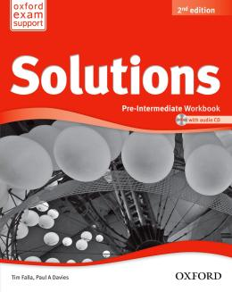 SOLUTIONS PRE-INTERMEDIATE WB AND AUDIO CD - 2ND ED