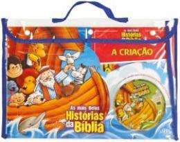 BOOK BAG-KIT COM 08 UNDADES - AS MAIS BELAS HISTORIAS DA BIBLIA