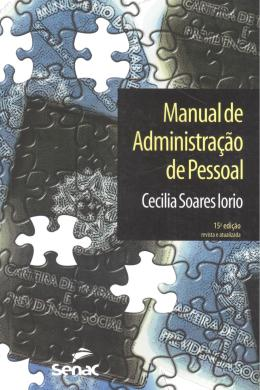 MANUAL DE ADMINISTRACAO DE PESSOAL 15º EDICAO