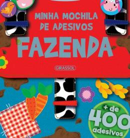 MINHA MOCHILA DE ADESIVOS - FAZENDA