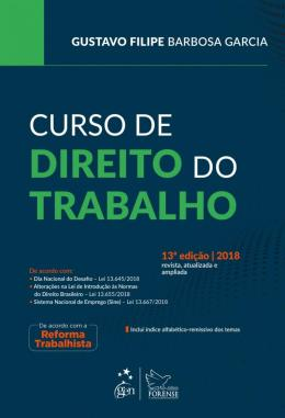 CURSO DE DIREITO DO TRABALHO - 13ª ED