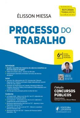 PROCESSO DO TRABALHO - 6ª ED