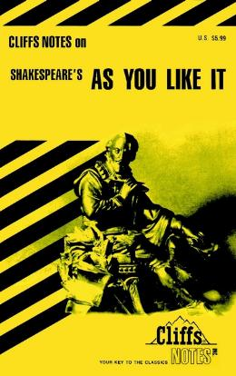 CLIFFSNOTES ON SHAKESPEARE´S AS YOU LIKE IT