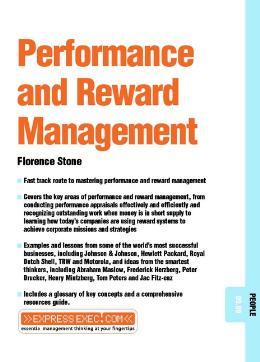 PERFORMANCE & REWARD MANAGEMENT