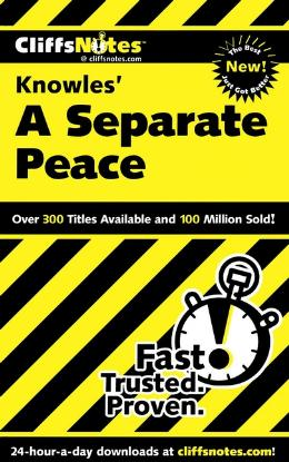 CLIFFSNOTES ON KNOWLE´S A SEPARATE PEACE