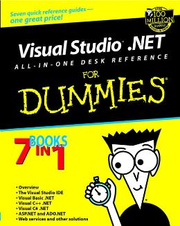VISUAL STUDIO.NET ALL IN ONE DESK REFERENCE FOR DUMMIES