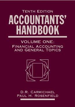 ACCOUNTANTS´ HANDBOOK, FINANCIAL ACCOUNTING AND GENERAL TOPICS
