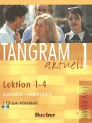 TANGRAM AKTUEL 1 KURSBUCH & ARBEITSBUCH LEKTION 1-4  COM CD (TEXTO + EXERCICIOS)