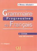 GRAMMAIRE PROGRESSIVE DU FR. DEBUTANT - LIVRE AVEC 440 EXERCICES + CD - 2E ED
