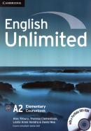 ENGLISH UNLIMITED ELEMENTARY CB WITH DVD-ROM - 1ST ED