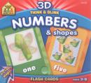 3D THINK & BLINK NUMBERS & SHAPES - FLASH CARDS