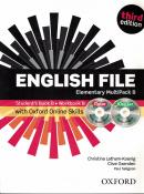 ENGLISH FILE ELEMENTARY B MULTIPACK WITH ITUTOR AND ONLINE SKILLS - 3RD ED