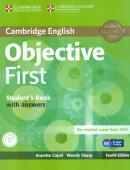 CAMBRIDGE ENGLISH OBJECTIVE FIRST SB WITH ANSWERS & CD-ROM - 4TH ED