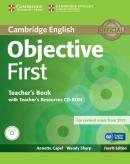 CAMBRIDGE ENGLISH OBJECTIVE FIRST TEACHERS BOOK WITH TEACHERS RESOURCES CD-ROM - 4TH ED