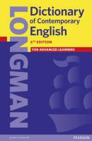 LONGMAN DICTIONARY OF CONTEMPORARY ENGLISH - 6TH ED