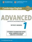 CAMBRIDGE ENGLISH ADVANCED 1 FOR REVISED EXAM FROM 2015 - WITHOUT ANSWERS