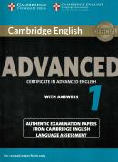 CAMBRIDGE ENGLISH ADVANCED 1 STUDENT´S BOOK  WITH ANSWERS