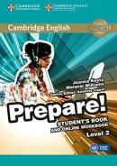 CAMBRIDGE ENGLISH PREPARE! 2 STUDENT´S BOOK WITH ONLINE WORKBOOK - 1ST ED