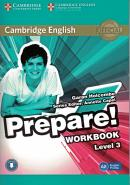 CAMBRIDGE ENGLISH PREPARE! 3 WORKBOOK - 1ST ED