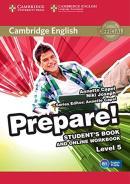 CAMBRIDGE ENGLISH PREPARE! 5 STUDENT´S BOOK WITH ONLINE WORKBOOK - 1ST ED
