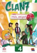 CLAN 7 CON ¡HOLA, AMIGOS! 4 - LIBRO DEL ALUMNO + CD-ROM