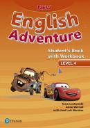 NEW ENGLISH ADVENTURE 4 SB WITH WB - 1ST ED