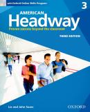 AMERICAN HEADWAY 3 SB WITH OXFORD ONLINE SKILLS PROGRAM - 3RD ED