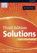 SOLUTIONS UPPER-INTERMEDIATE SB AND ONLINE PRACTICE PACK - 3RD ED