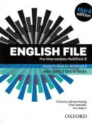 ENGLISH FILE PRE-INTERMEDIATE B MULTIPACK WITH OXFORD ONLINE SKILL - 3RD ED