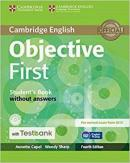 OBJECTIVE FIRST STUDENT´S BOOK WITHOUT ANSWERS WITH CD-ROM WITH TESTBANK - 4TH ED