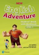 NEW ENGLISH ADVENTURE 3 SB WITH WB - 1ST ED