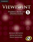 VIEWPOINT 1 STUDENT´S BOOK WITH ONLINE COURSE - INCLUDES ONLINE WB - 1ST ED