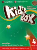 KIDS BOX AMERICAN ENGLISH 4 WORKBOOK WITH ONLINE RESOURCES - UPDATED 2ND ED
