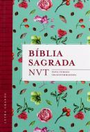 BIBLIA SAGRADA NVT - FLORES TIFFANY - LETRA GRANDE/CAPA DURA
